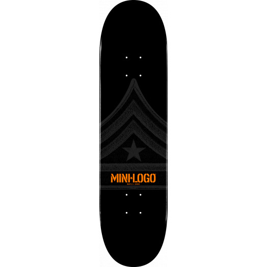 Mini Logo Quartermaster Skateboard Deck 126 Black - 7.625 x 31.625