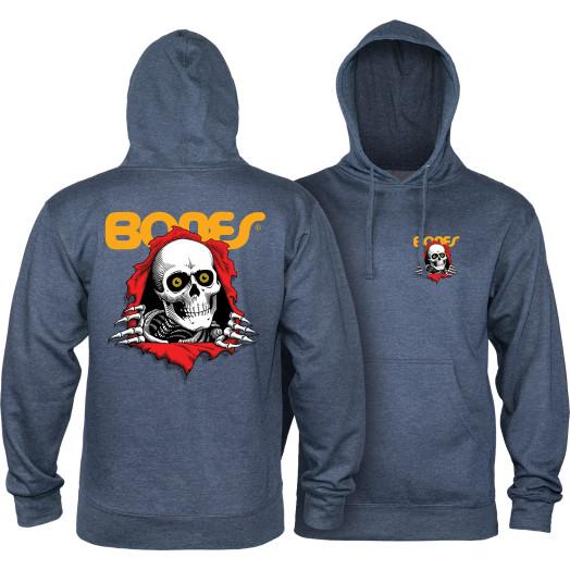 Powell Peralta Ripper Hooded Sweatshirt Mid Weight Navy Heather