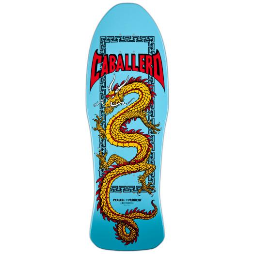 Powell Peralta Caballero Chinese Dragon Skateboard Deck Light Blue - 10 x 30