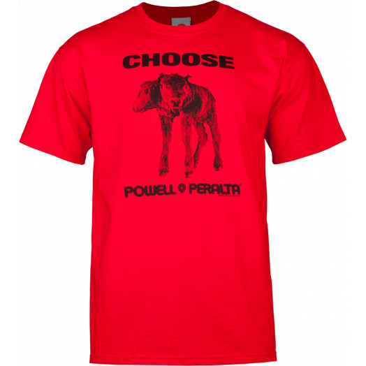 """Powell Peralta """"Choose"""" T-shirt - Red"""