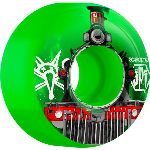 BONES SPF Pro Schroeder Train 60x34 P3 Skateboard Wheel 4pk