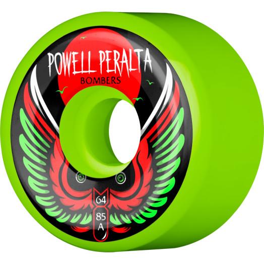 Powell Peralta Bomber Wheel 3 Green 64mm 85a 4pk