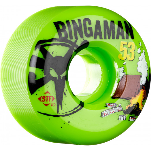 BONES WHEELS STF Pro Bingaman Camp 53mm Green 4pk
