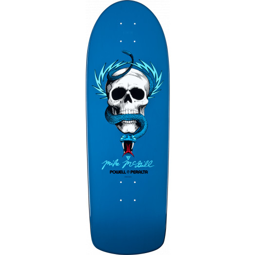 Powell Peralta Mike McGill Skull and Snake Deck Blue  - 10 x 30.125