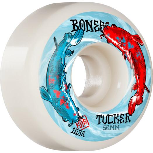 BONES WHEELS PRO STF Skateboard Wheels Tucker Big Fish 52mm V1 Standard 103A 4pk