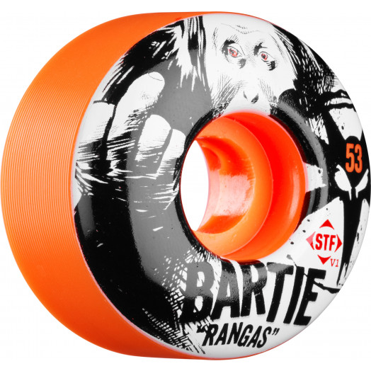 BONES WHEELS STF Pro Bartie Ranga Orange 53mm 4pk