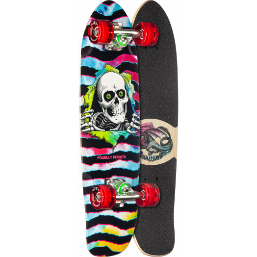 Powell Peralta Sidewalk Surfer Tie Dye Ripper Skateboard Cruiser Assembly - 7.75 x 27.20 WB 14.0
