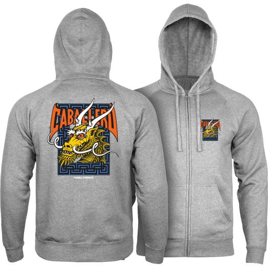 Powell Peralta Cab Street Hooded Zip Sweatshirt - Gunmetal Heather