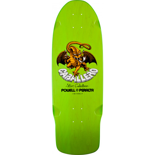 Bones Brigade® Steve Caballero Dragon Reissue Skateboard Deck Green - 10 x 29.75