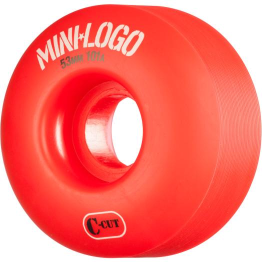 Mini Logo Skateboard Wheels C-cut 53mm 101A Red 4pk