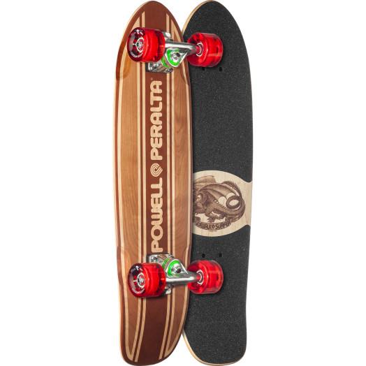 Powell Peralta Sidewalk Surfer Inlay Natural Cruiser Complete Skateboard - 7.75 x 27.20 WB 14.0
