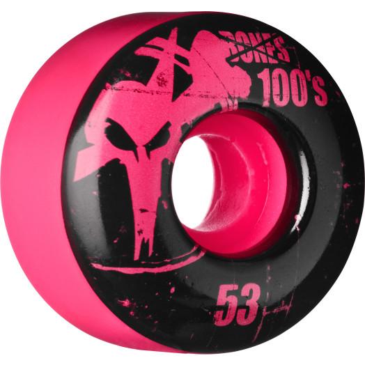 BONES WHEELS 100 Slims 53mm - Pink (4 pack)