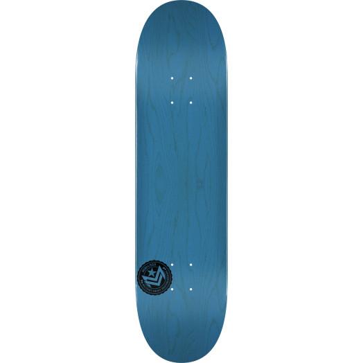 "MINI LOGO CHEVRON STAMP ""12"" SKATEBOARD DECK 249 BLUE - 8.5 X 32"