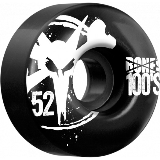 BONES WHEELS 100 Black 52mm 4pk