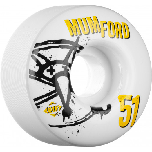 BONES WHEELS STF Pro Mumford Numbers 51mm 4pk