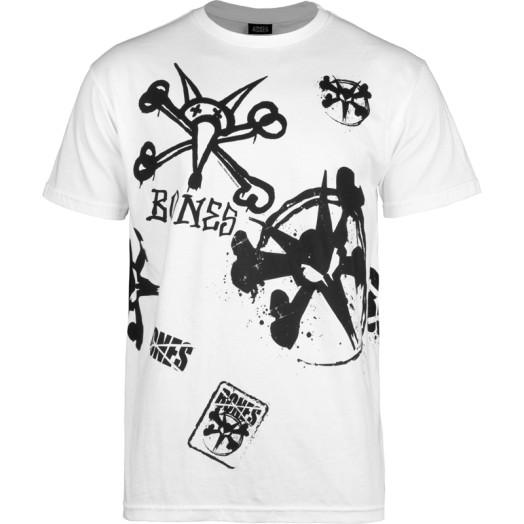 "BONES WHEELS ""TEAM""  T-shirt - White"