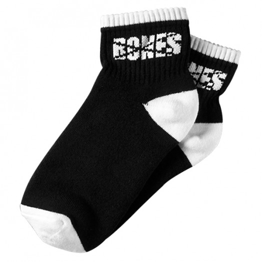 BONES WHEELS Booty Socks - Black/White