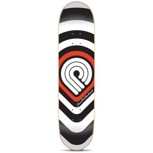 Powell Red Strobe Skateboard Deck - 7.75 x 31.75