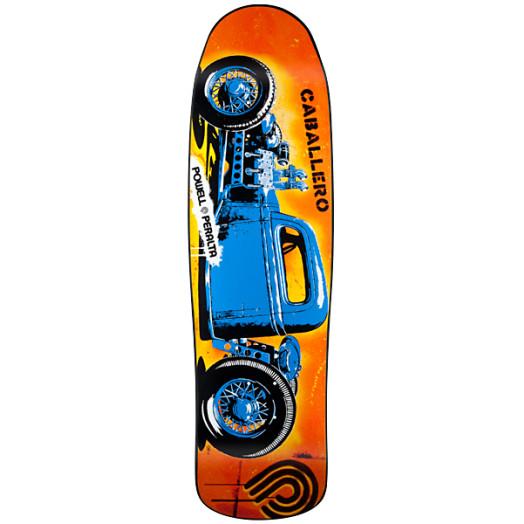 Powell Peralta Steve Caballero Blue Hot Rod Skateboard Deck - 9.16 x 32.68