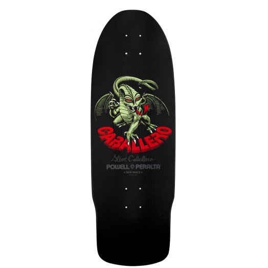 Powell Peralta Caballero Dragon II Skateboard Deck Black - 10 x 29.75