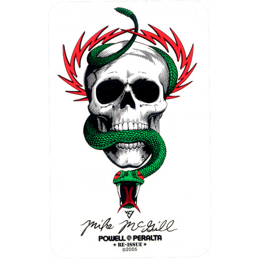 Powell Peralta Mike McGill Skull & Snake Sticker (Single)