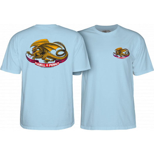 Powell Peralta Oval Dragon T-shirt Powder Blue