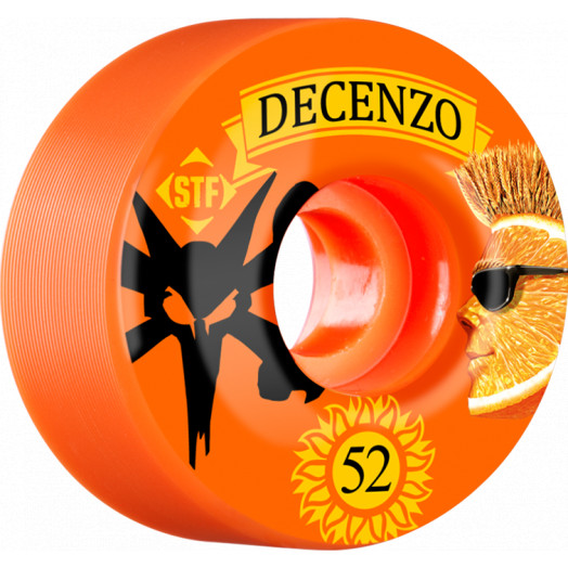 BONES WHEELS STF Pro Decenzo Shock 52mm wheels 4pk Orange