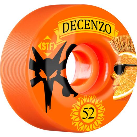 BONES WHEELS STF Pro Decenzo Shock 52mm wheels 4pk Orange