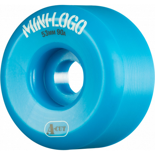 Mini Logo Skateboard Wheels A-cut 53mm 90A Blue 4pk