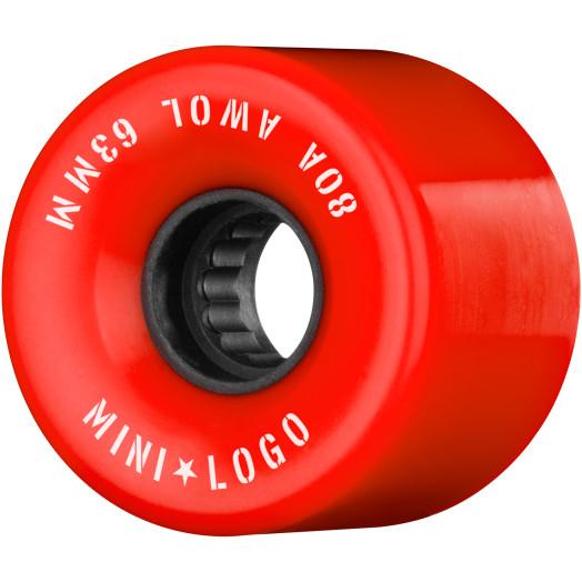 Mini Logo AWOL Skateboard Wheels 63mm 80A Red 4pk