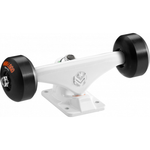"Mini Logo Truck Assembly - 7.63"" White - ML Bearings - 53mm 90a Black Wheels"