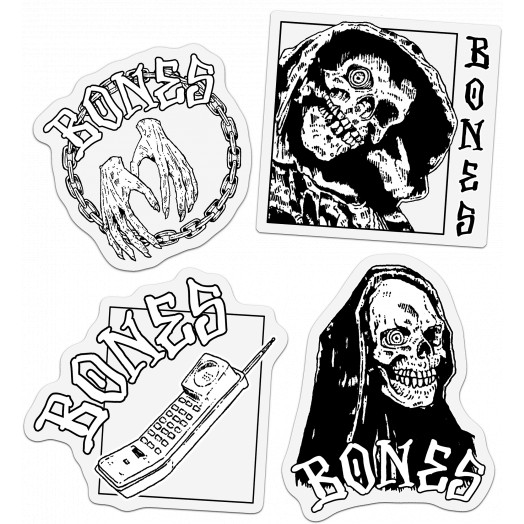 BONES WHEELS Terror Nacht Sticker 20pk