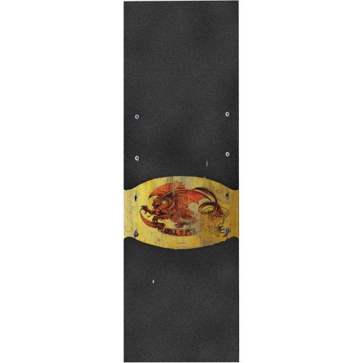 Powell Peralta Grip Tape Sheet 10.5 x 33 Oval dragon (Black)