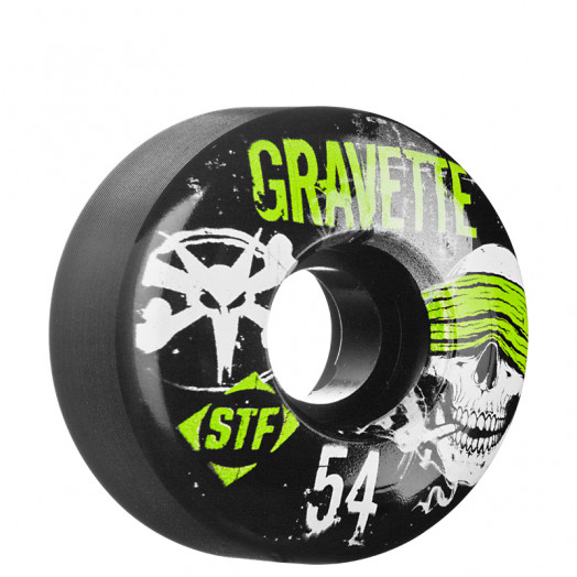 BONES WHEELS STF Pro Gravette Hostage 54mm Black 4 pk