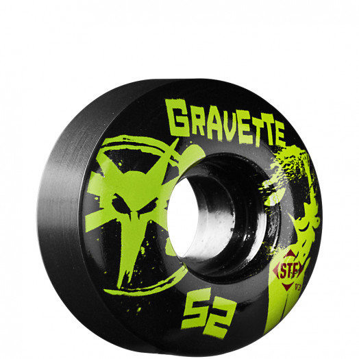 BONES WHEELS STF Pro Gravette T&A 52mm - Black (4 pack)