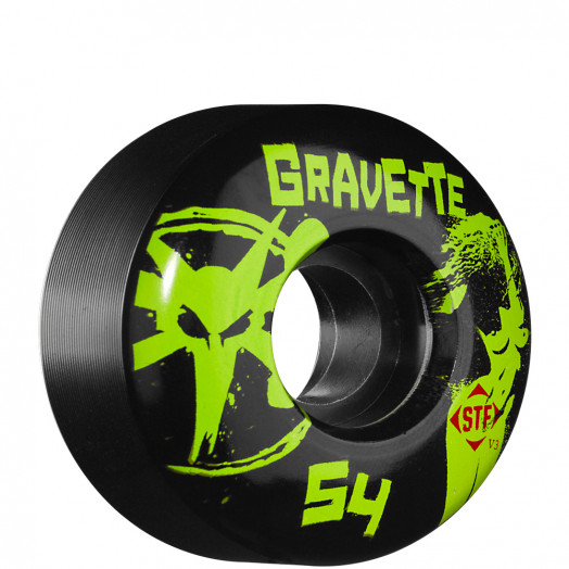 BONES WHEELS STF Pro Gravette T&A 54mm - Black (4 pack)