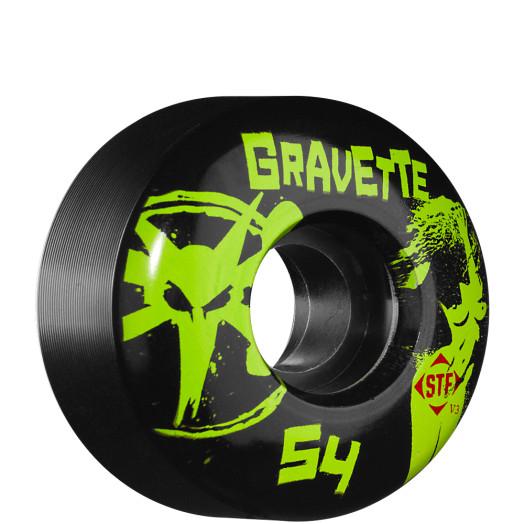 BONES WHEELS STF Pro Gravette T&A 54mm - Black (4 pack)