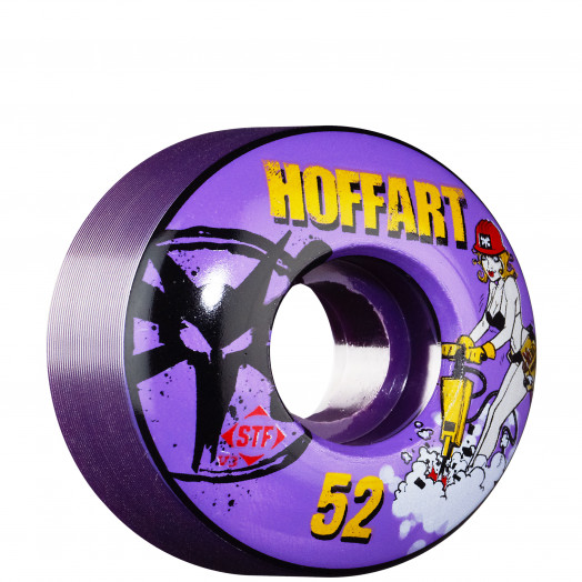 BONES WHEELS STF Pro Hoffart Jack Hoff 52mm - Purple (4 pack)