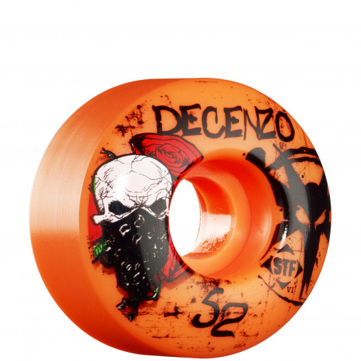 BONES WHEELS STF Pro Decenzo Wicked 52mm - Orange (4 pack)