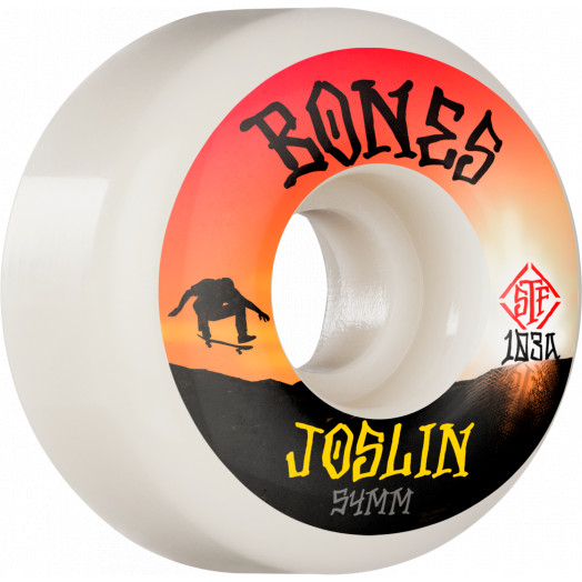 BONES WHEELS PRO STF Skateboard Wheels Joslin Sunset 54mm V1 Standard 103A 4pk