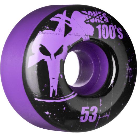 BONES WHEELS 100 Slims 53mm - Purple (4 pack)