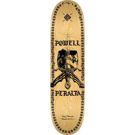 Powell Peralta Skull And Sword Chainz Skateboard Deck Natural - 8.75 x 32.95