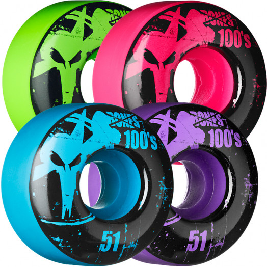 BONES WHEELS 100 Slims 51mm - Assorted Colors (4 pack)