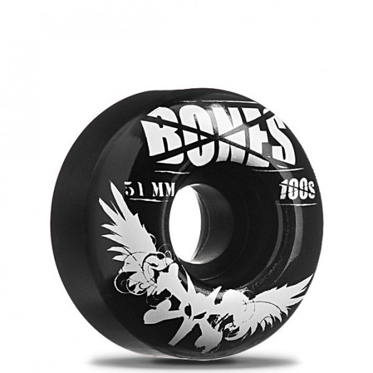 BONES WHEELS 100 Black 51/100a (4 pack)