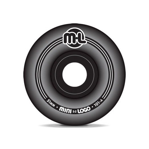 Mini Logo S-2 Black Wheels 51/101a