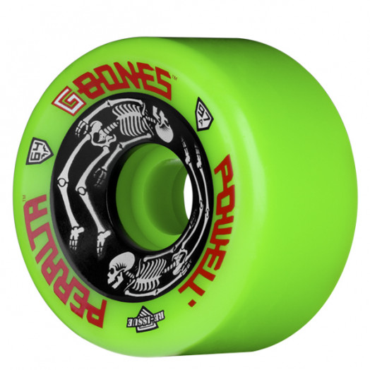 Powell Peralta G-Bones Wheels Green 64/97a (4 pack)