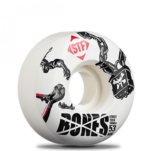 "BONES WHEELS ""Padlock"" 53mm Street Tech Formula(4pack)"