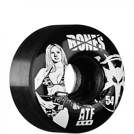 BONES WHEELS ATF Bikini Girl 54mm - Black (4 pack)