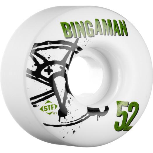 BONES WHEELS STF Pro Bingaman Numbers 52mm 4pk