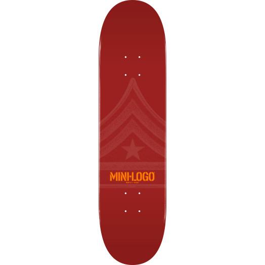 Mini Logo Quartermaster Skateboard Deck 124 Maroon - 7.5 x 31.375